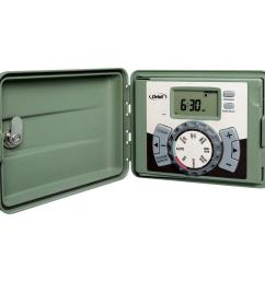 orbit 6 station easy set logic indoor outdoor sprinkler timer 57896 the home depot [ 1000 x 1000 Pixel ]