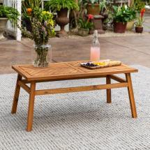 Walker Edison Furniture Company Brown Acacia Wood Outdoor