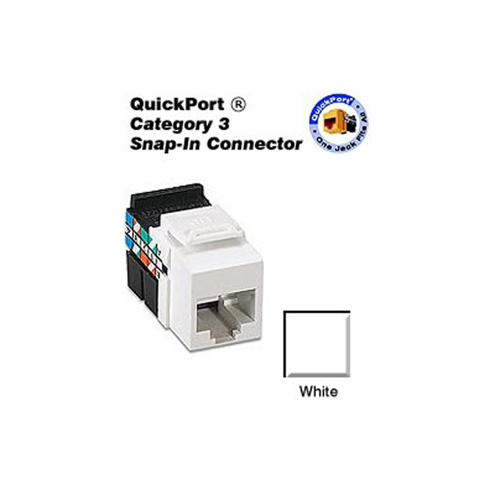 hight resolution of quickport cat 3 connector white