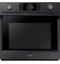 single electric wall oven with steam cook flex duo and dual convection in fingerprint resistant black stainless [ 1000 x 1000 Pixel ]