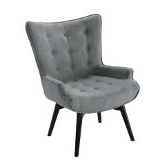 Gray Accent Chair With Ottoman Black Padded Folding Chairs Logrono Color Cm Ac6164 The Home Depot