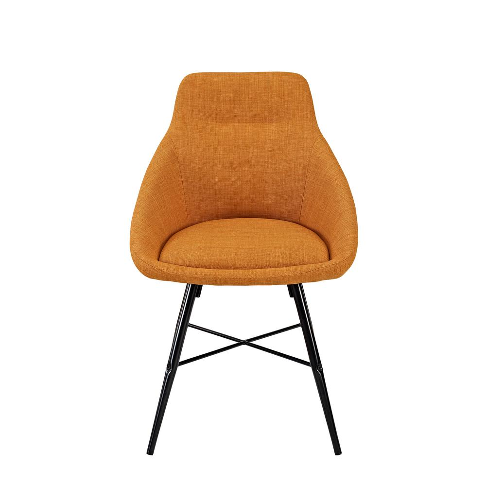 orange upholstered chair white leather dining walker edison furniture company urban side set of 2 hdh18urb2or the home depot