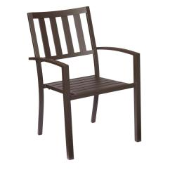 Stackable Metal Patio Chairs Embroidered Directors Hampton Bay Mix And Match Brown Outdoor Dining Chair