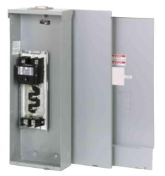 eaton br 200 amp 4 space 8 circuit outdoor main breaker loadcenter with cover [ 1000 x 1000 Pixel ]