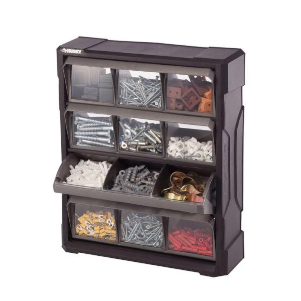 Husky 12-compartment Small Parts Bin Organizer-222171 - Home Depot