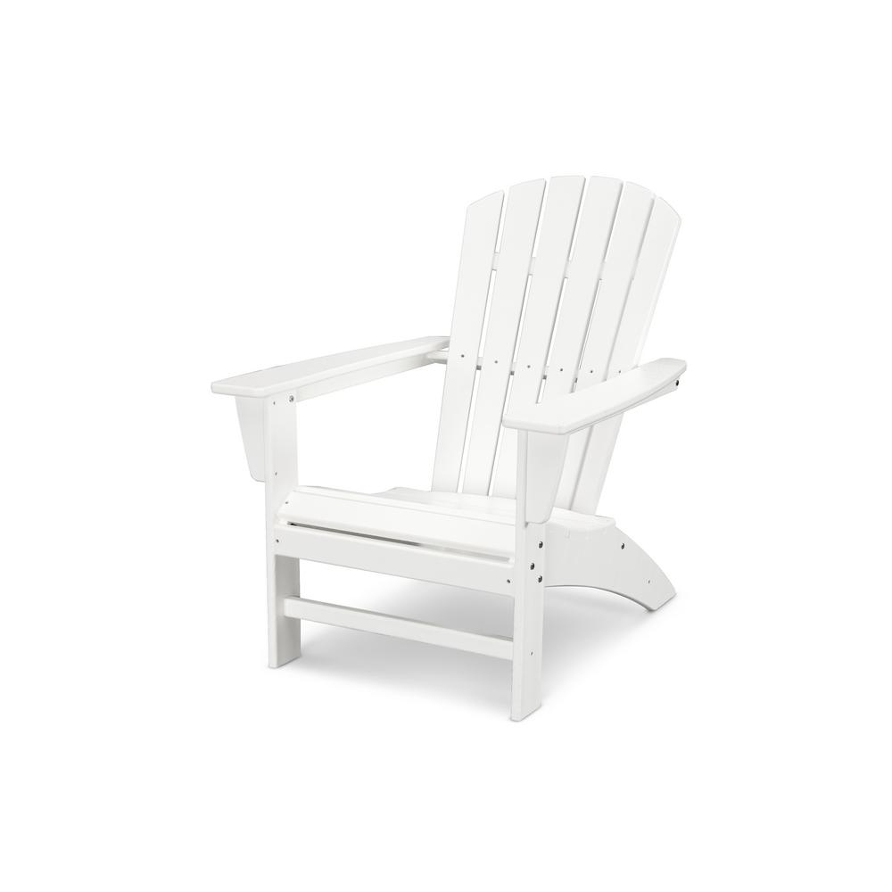 poly wood adirondack chairs white wicker rocking chair for nursery polywood traditional curveback plastic outdoor patio ad440wh the home depot