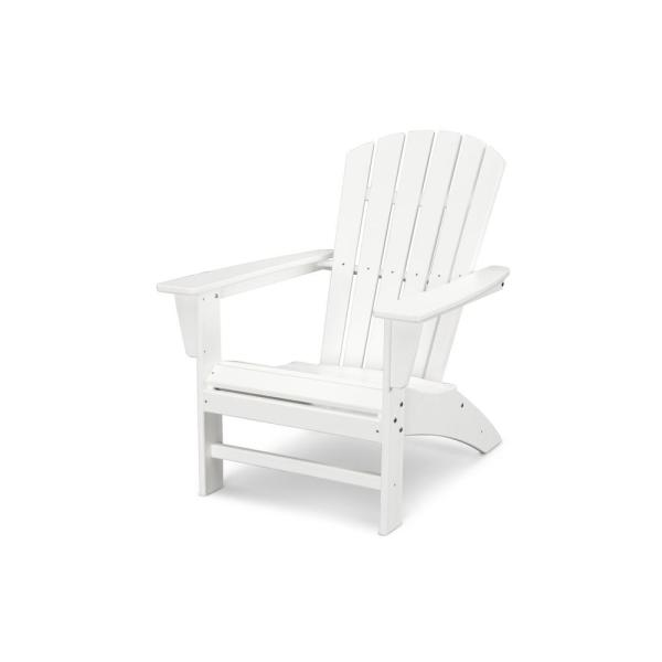 plastic patio furniture POLYWOOD Traditional Curveback White Plastic Outdoor Patio