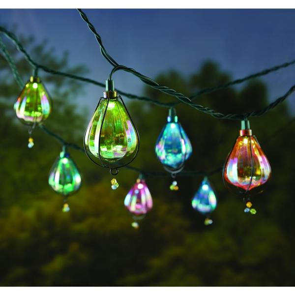Hampton Bay 10-light Iridescent Plastic Cover Outdoor Led String Light-nxt-1002 - Home Depot