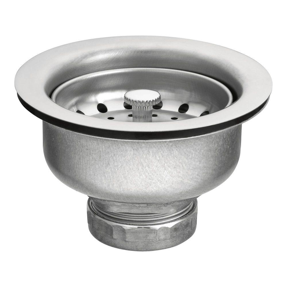 kitchen sink drain makeover on a budget moen basket strainer in stainless steel