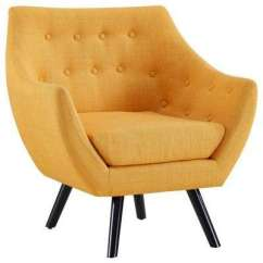 Accent Chair Yellow La Z Boy Martin Big And Tall Executive Office Reviews Chairs The Home Depot Mustard Allegory Arm