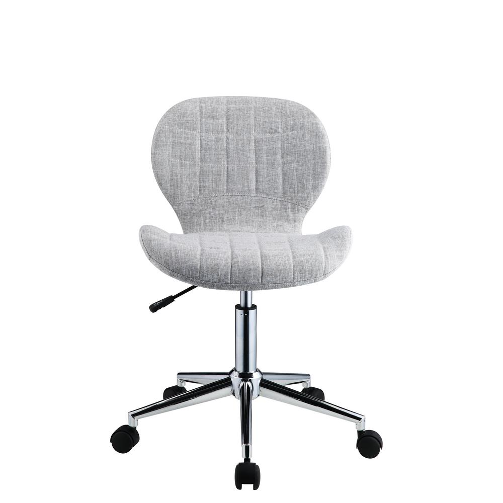 cloth office chairs silver dining acme furniture nepeta light blue gray fabric chair 92510
