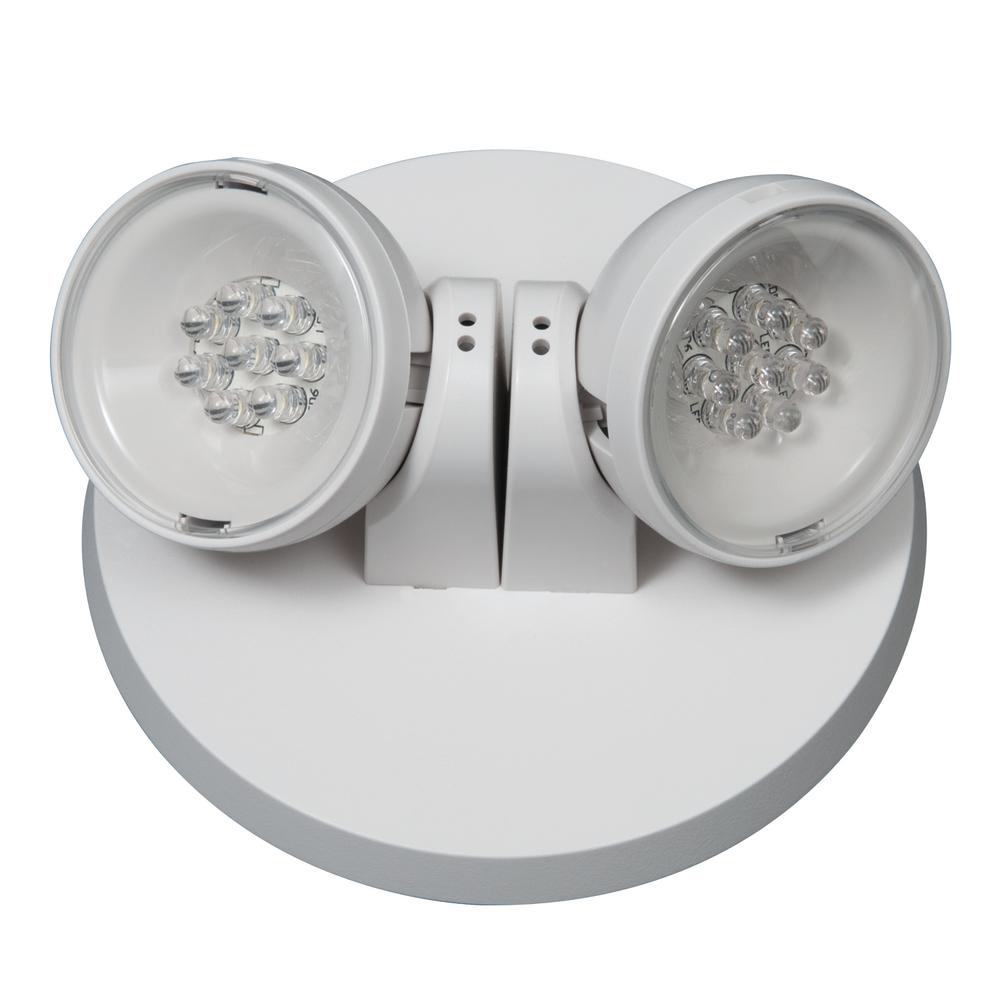 hight resolution of apwr 25 watt white integrated led emergency light with 2 remote heads