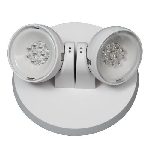small resolution of apwr 25 watt white integrated led emergency light with 2 remote heads