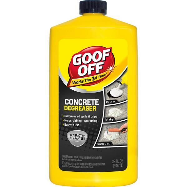 Goof 32 Oz. Concrete Cleaner Degreaser-fg820 - Home Depot