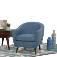 Simpli Home Roundstone Denim Blue Fabric Arm Chair-AXCTUB ...