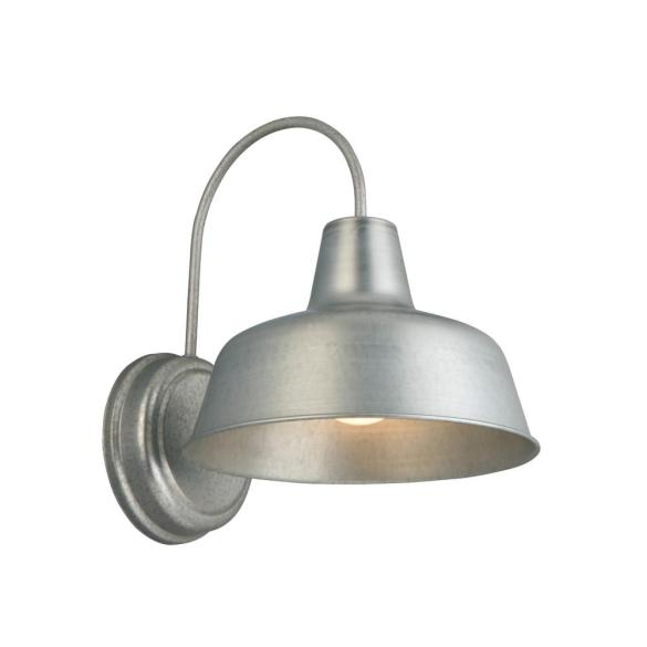 Design House Mason 1-Light Galvanized Outdoor Wall Sconce