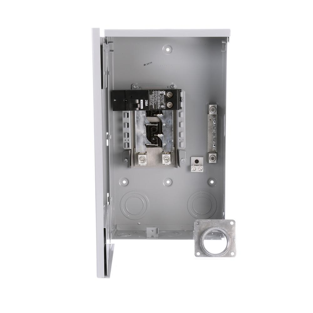 hight resolution of murray 200 amp 4 space 8 circuit main breaker outdoor trailer panel