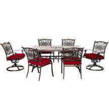 Hanover Monaco 5-piece Aluminum Outdoor Dining Set With 4