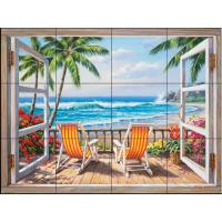 The Tile Mural Store Tropical Terrace 24 in. x 18 in ...