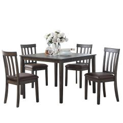 Steve Silver Dining Chairs Office Conference Room Melanie 5 Piece Espresso Set Ml4000e The Home