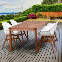 Deluxe Carilo 5-piece Wood Oval Outdoor Dining