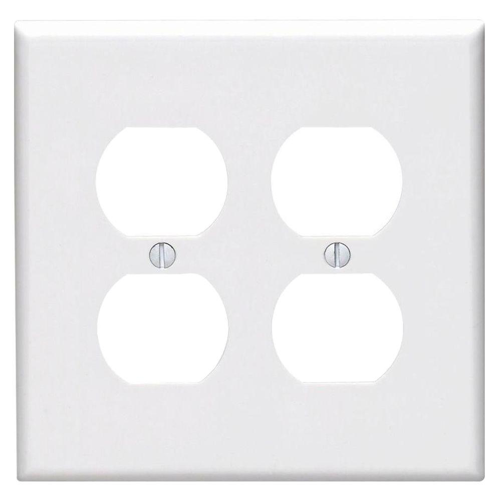 Leviton 2 Gang Midway Duplex Outlet Nylon Wall Plate