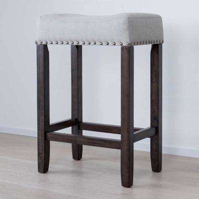 stools for kitchen pulldown faucet solid wood bar dining room furniture the home dark gray and cushioned stool