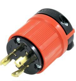 ac works ac connectors nema l6 30p 30 amp 250 volt 3 prong [ 1000 x 1000 Pixel ]