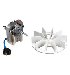 broan replacement motor and impeller for 659 and 679 bathroom exhaust fans [ 1000 x 1000 Pixel ]