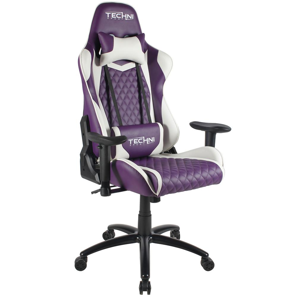video game chair and a half rocker glider techni sport purple ergonomic high back racer style gaming