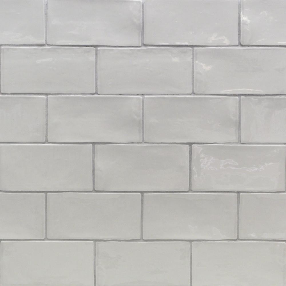 Splashback Tile Catalina Gris 3 in. x 6 in. x 8 mm Ceramic