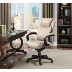 Lazboy Office Chair Cheap Bean Bag Chairs La Z Boy Linden Taupe Bonded Leather Executive 45780