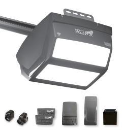 1 1 4 hp smartphone controlled garage door opener with built in led lighting and ultra quiet belt drive [ 1000 x 1000 Pixel ]