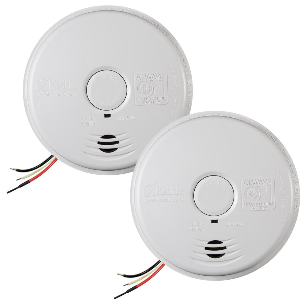 medium resolution of 120 volt hardwired worry free smoke alarm with 10 year battery backup 2