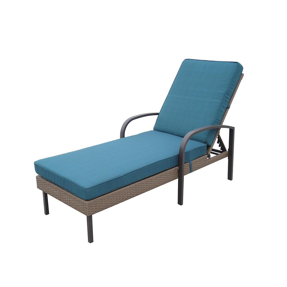 Lounge Chair Patio Hampton Bay Corranade Wicker Chaise Lounge With Charleston Cushions