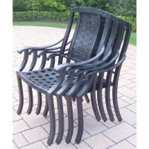 Oakland Living Vanguard Aluminum Patio Dining Chair 4