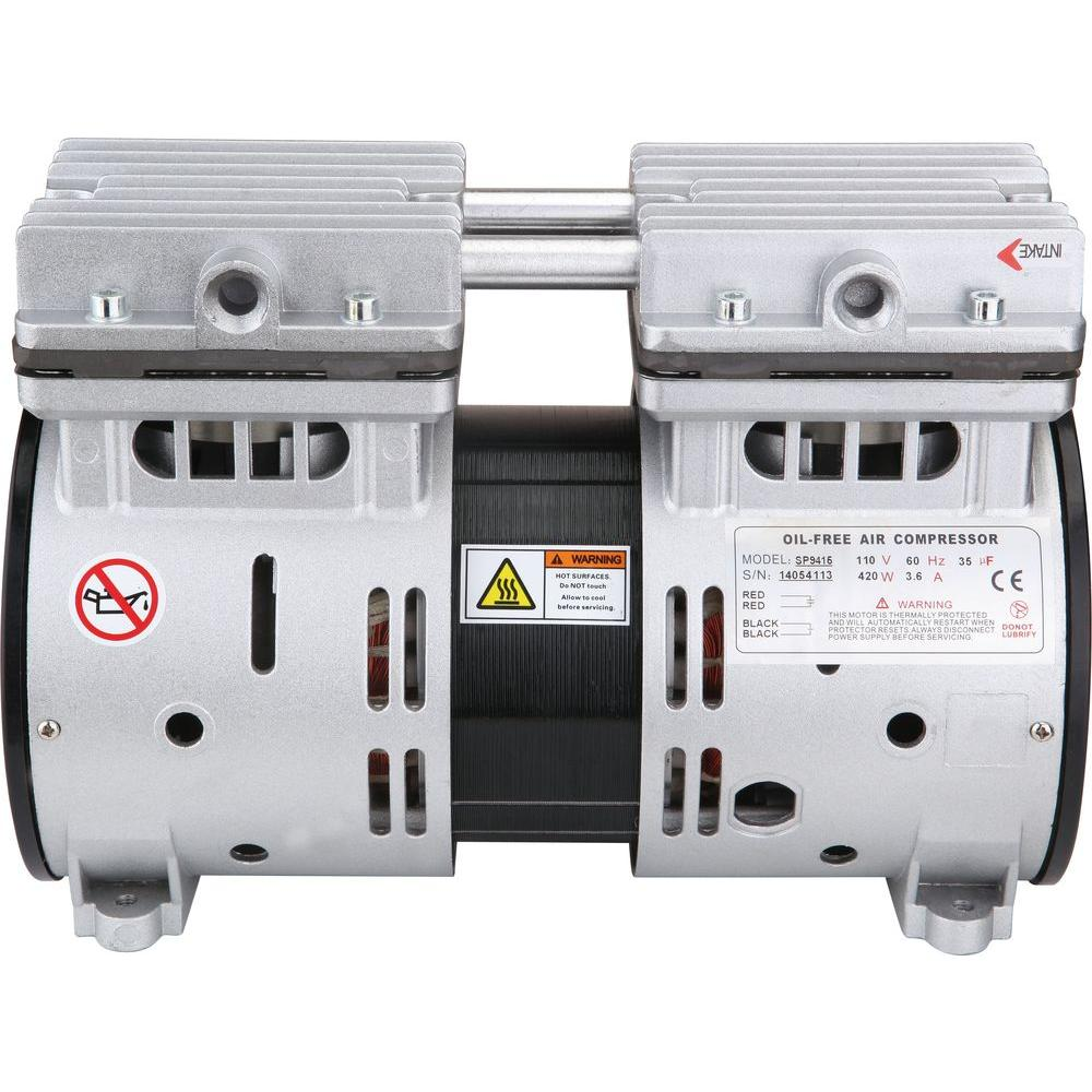 medium resolution of 1 2 hp ultra quiet and oil free air compressor motor