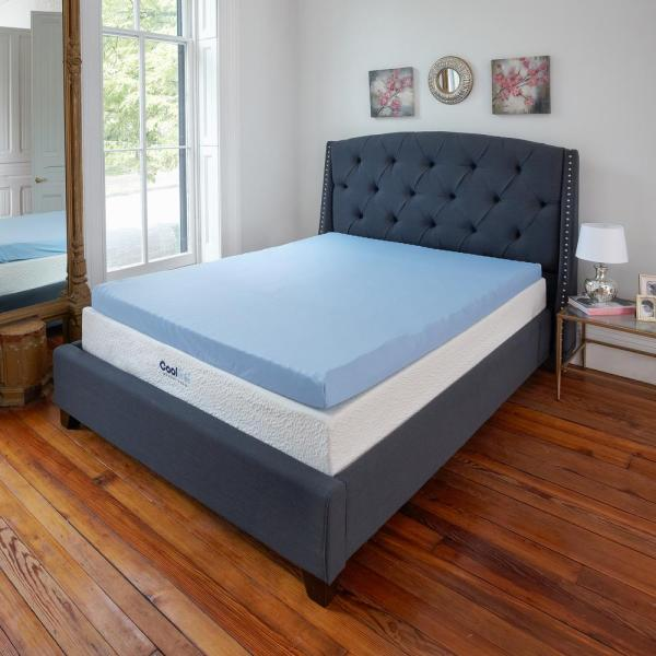 Sleep Options Classic Cool Cloud 3 In. Full Gel Memory Foam Mattress Topper With Free Cover