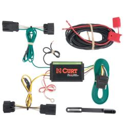 curt custom wiring harness 4 way flat output hitch wiring harness  [ 1000 x 1000 Pixel ]
