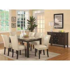 Beige Dining Chairs Walmart Computer Desk Kitchen Room Furniture The Home Depot Carter Collection Cream Leatherette Chair Set Of 2
