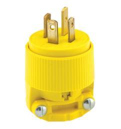 20 amp 120 208 volt 3 phase straight blade non grounding plug [ 1000 x 1000 Pixel ]