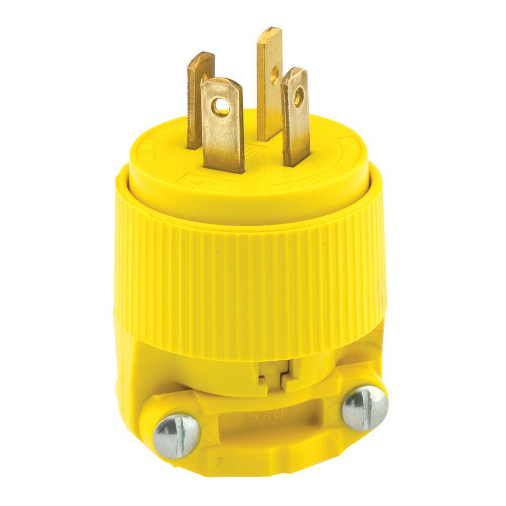 medium resolution of 20 amp 120 208 volt 3 phase straight blade non grounding plug