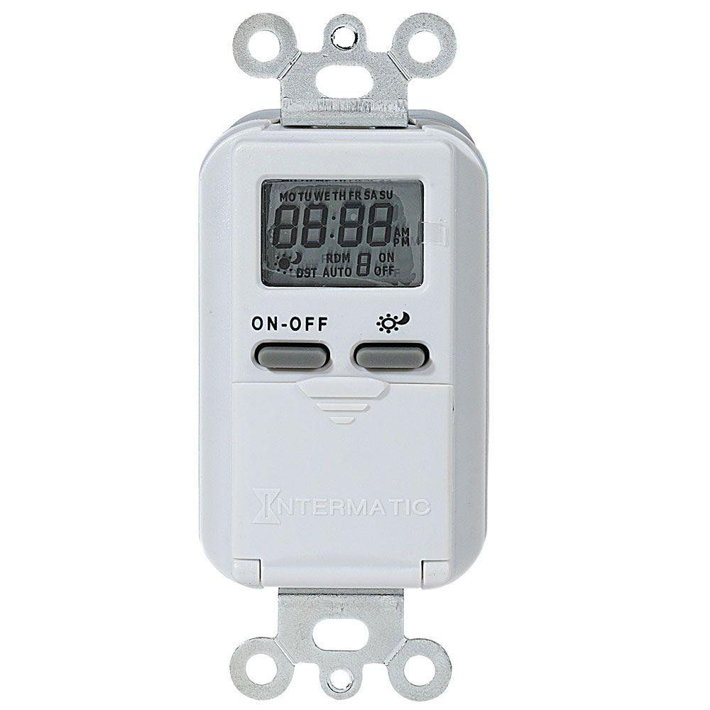 medium resolution of 15 amp 7 day indoor astronomic digital in wall timer white