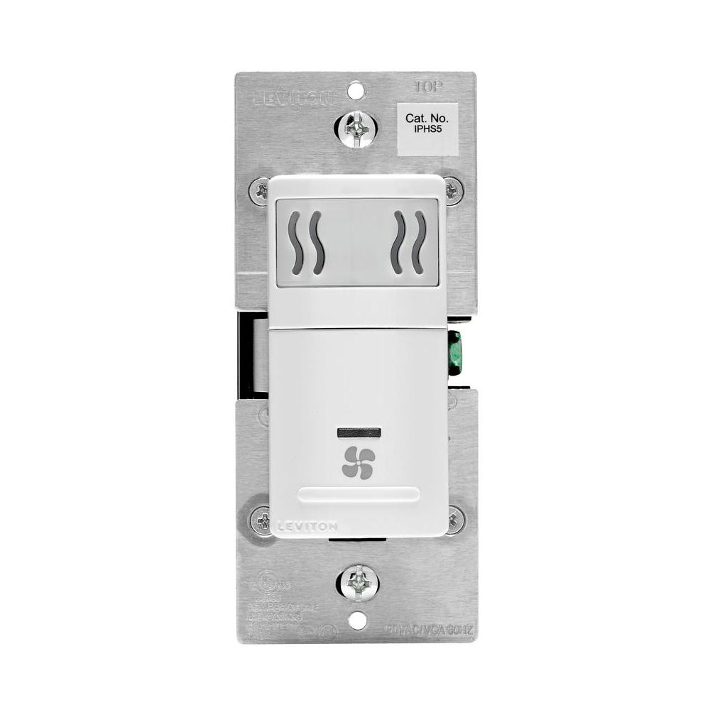 hight resolution of decora in wall humidity sensor fan control 3 a single pole white
