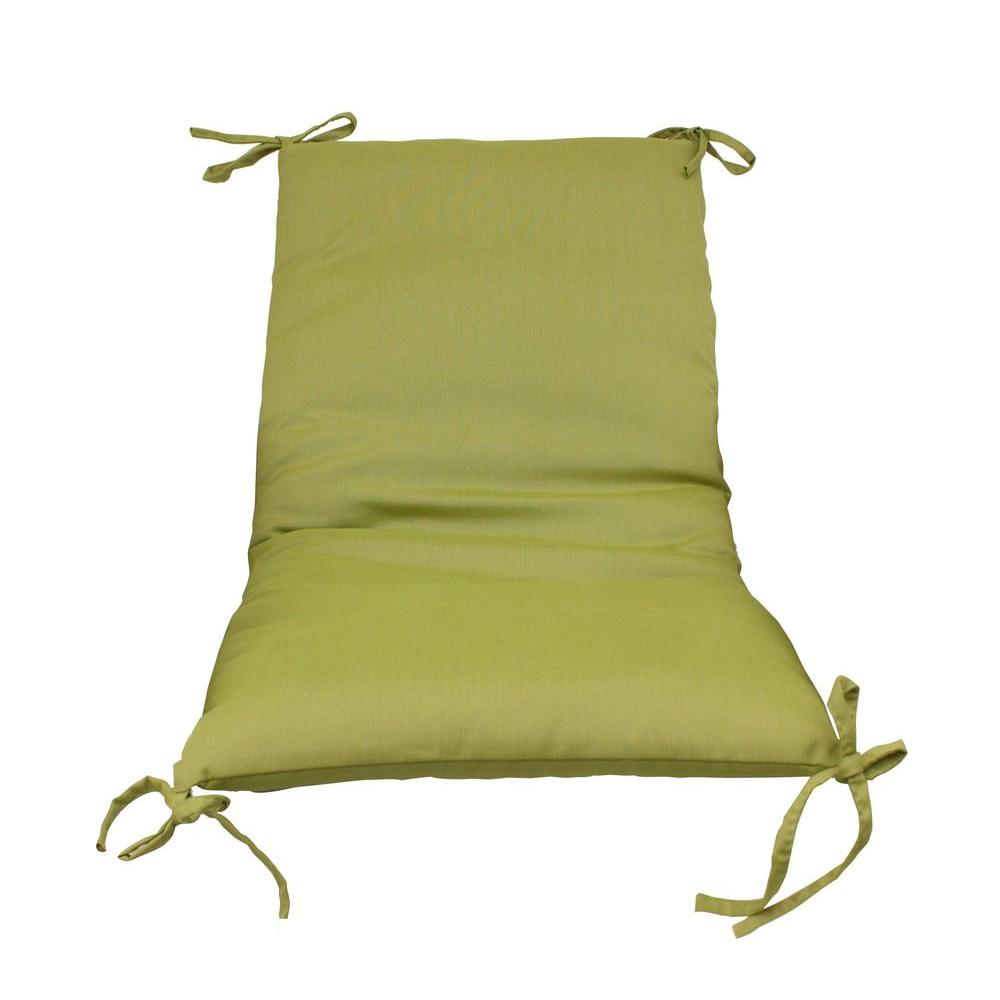 sling chair outdoor graco blossom high cover replacement paradise cushions green solid cushion 2 pack