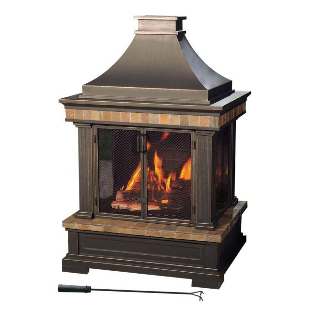 sunjoy amherst 35 in. wood-burning outdoor fireplace-l-of082pst-3