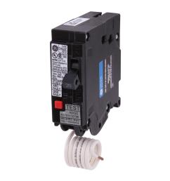 ge q line 20 amp single pole dual function arc fault gfci breaker [ 1000 x 1000 Pixel ]