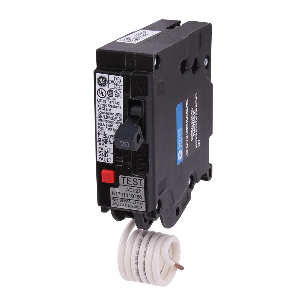 hight resolution of ge q line 20 amp single pole dual function arc fault gfci breaker