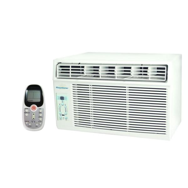 Keystone 10 000 Btu 115-volt Window-mounted Air Conditioner With Follow Lcd Remote Control