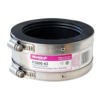 Fernco 4 in. Cast Iron x 3 in. Plastic, Steel or Extra ...